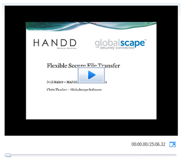 Flexible Secure File Sharing from Globalscape. HANDD On Demand Webinar