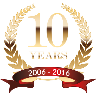 10 years logo handd business solutions 6905